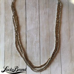 Lucky Brand Beaded Triple Strand Two Tone …
